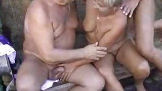 Granny sucking cocks